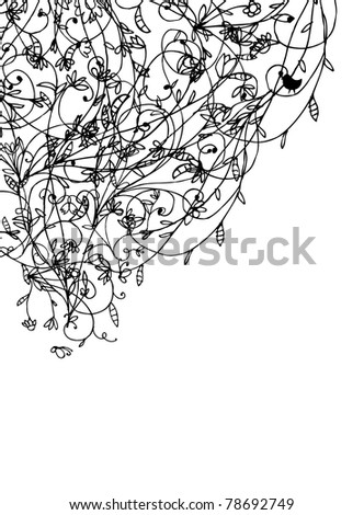 Floral background for your design - stock vector