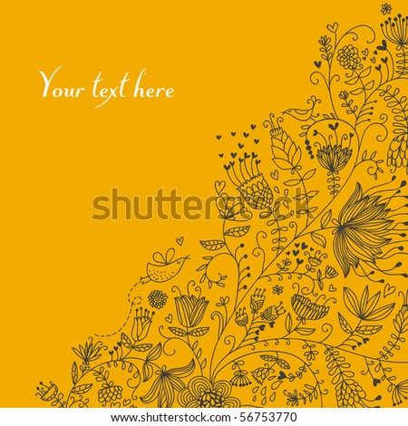 Floral background in bright colors - stock vector