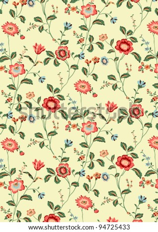 floral background pattern - stock vector