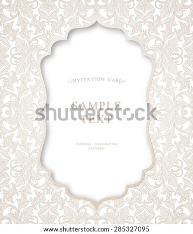 Floral Background Pattern Best Invitations Announcements Stock