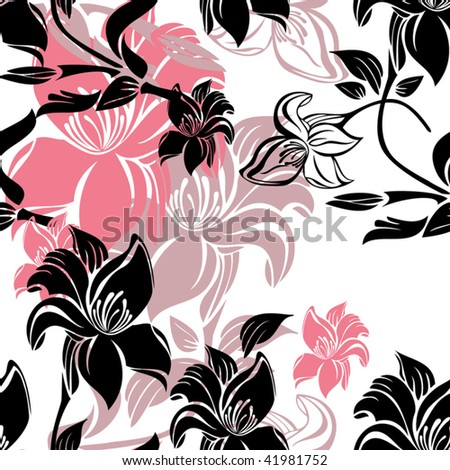 Floral background pattern. Vector illustration - stock vector