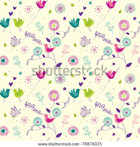 Floral background seamless - stock vector
