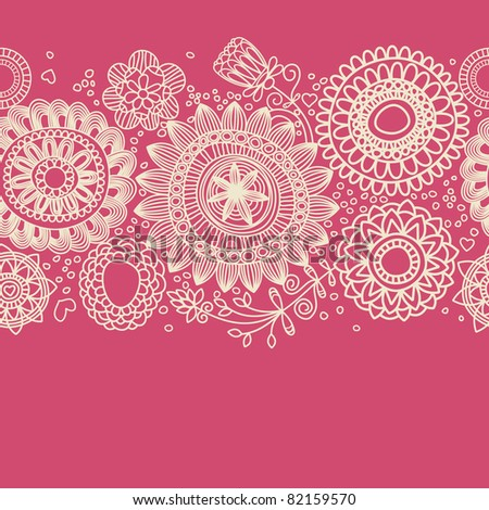 Floral background (seamless pattern) - stock vector