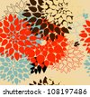 Floral background. Summer colour. Seamless floral pattern with stylized flower - stock vector