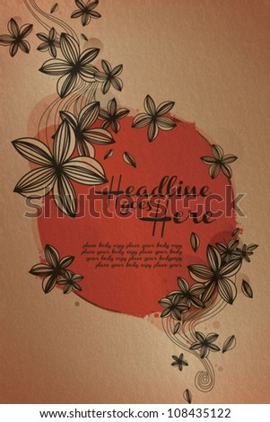floral background template vector/illustration - stock vector