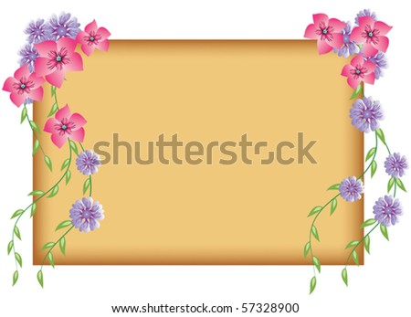 Floral background to insert text or photo - stock vector