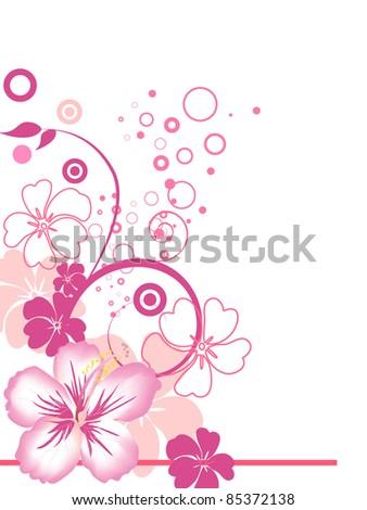floral background - vector - stock vector
