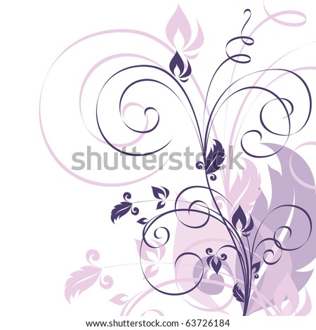 Floral Background. Vector. eps10. - stock vector