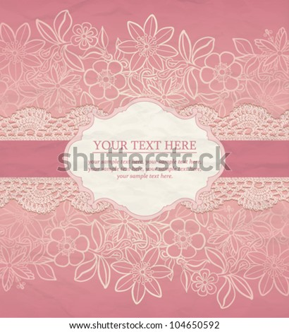 Floral Background. Vector greeting card, invitation template - stock vector
