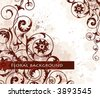 Floral background. Vector illustration. - stock photo