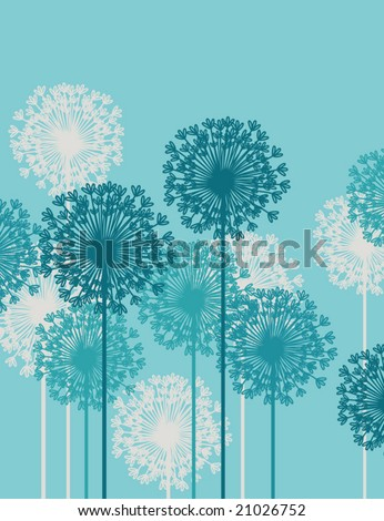 Floral background.  Vector illustration. - stock vector