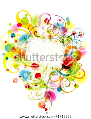 Floral background, vector illustration, eps10