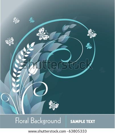 Floral Background. Vector Illustration in eps10 format. - stock vector
