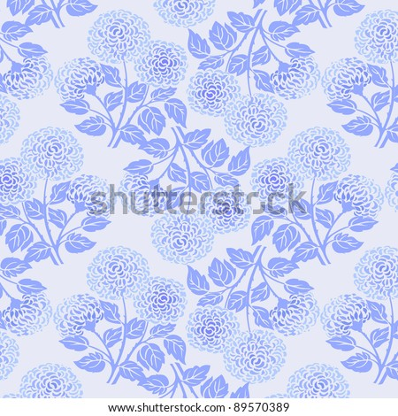 floral background vector pattern - stock vector