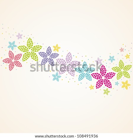 Floral background. Vintage decoration. Vector illustration. - stock vector