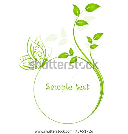 Floral background with butterfly. Element for design. - stock vector