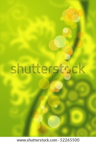 Floral background with circle, element for design, vector illustration - stock vector