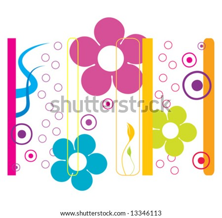 floral background with flowers and colors