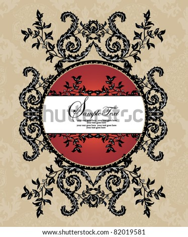 floral background with place for text or invitation card