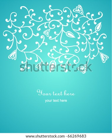 floral background with space for your text