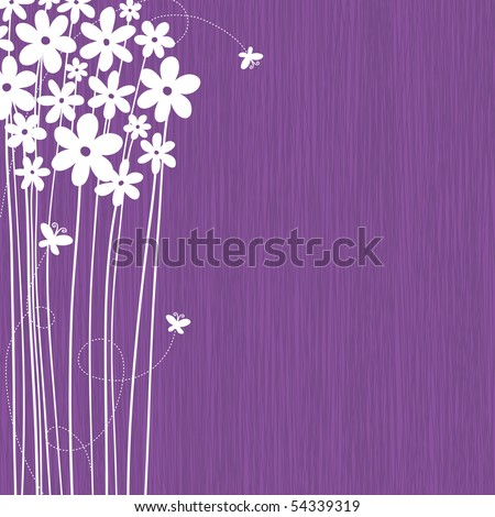 Floral Background With Space For Your Text (vector) - stock vector