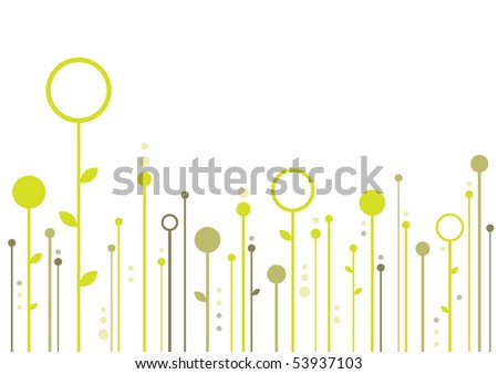 Floral Background With Space For Your Text (vector). In the gallery also available XXL jpeg version of this image.