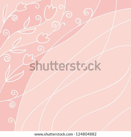 Floral background with spring tulips.