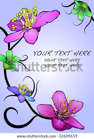 floral background with text