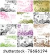 Floral backgrounds - stock vector