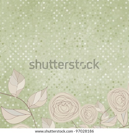 Floral backgrounds with vintage roses. EPS 8 vector file included - stock vector