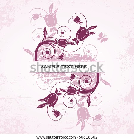 Floral Banner. eps10 format. - stock vector