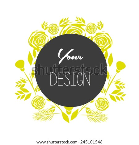 floral banners for life events, vector collection, for your desi - stock vector