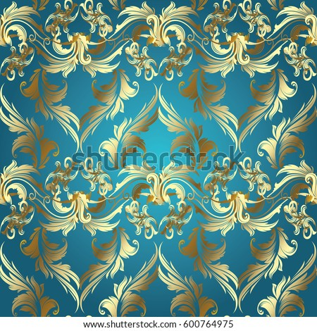 Floral Baroque Seamless Pattern Vector Light Stock Vector ...