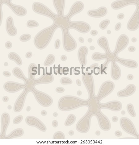 floral beige seamless pattern - stock vector