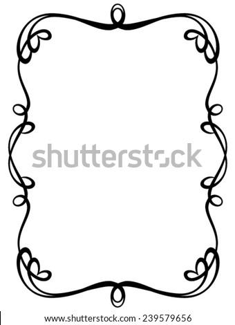 floral black frame - stock vector