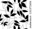 Floral black&white seamless pattern (vector version) - stock photo