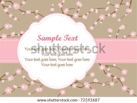 Floral Branch Frame - stock vector
