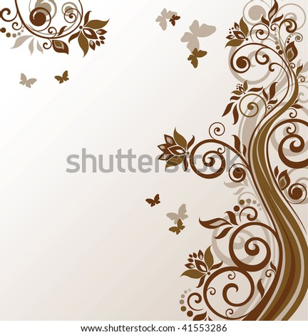 Floral brown background