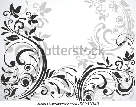 Floral card - stock vector