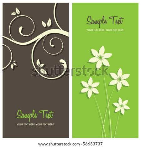 floral card background, vector illustration - stock vector