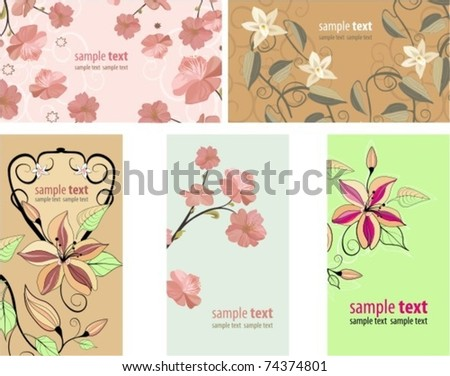 floral card. vector backgrounds - stock vector