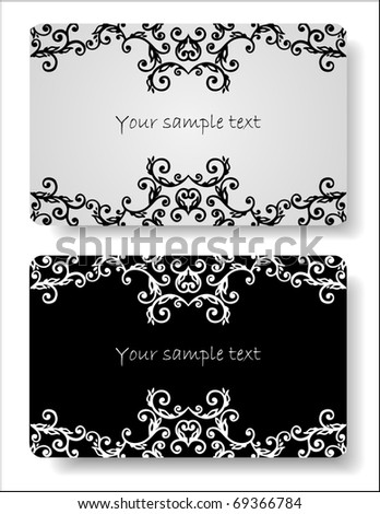 Floral cards templates - stock vector
