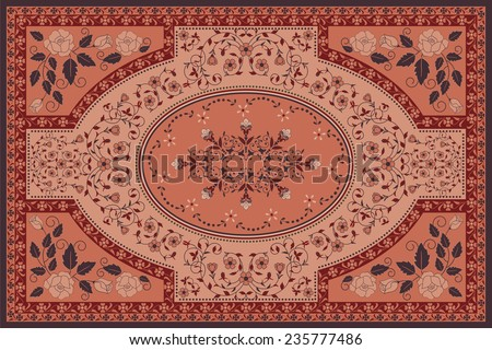 Floral carpet - stock vector