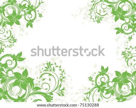 floral creative decorative abstraction background - stock vector