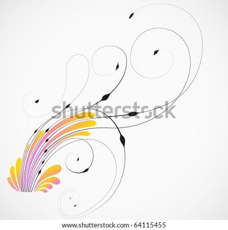 Floral decoration vector element design. Abstract background. - stock vector