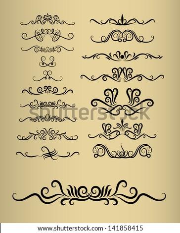 Floral decorations 17 vintage decorative flora stock for Shoulder decoration 9 letters