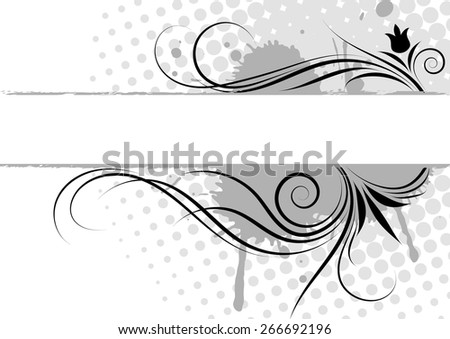 Floral decorative ornaments. Vector illustration - stock vector
