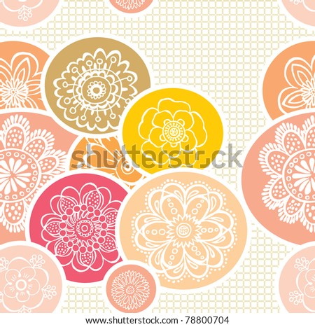 floral decorative seamless pattern - stock vector