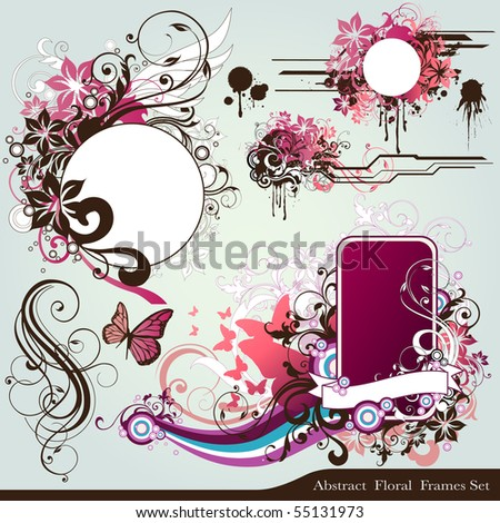 floral deign elements - stock vector