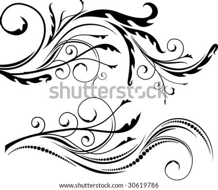 Floral design. - stock vector
